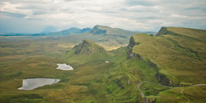 View of the Trotternish Ridge from the Quiraing, Isle of Skye, Scotland, Lee robinson travel photography
